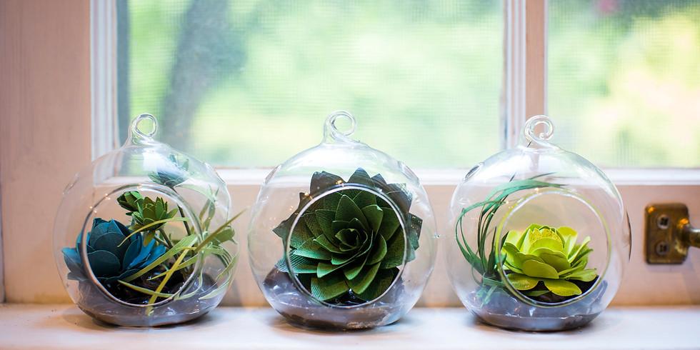 Create a Paper Succulent Hanging Terrarium