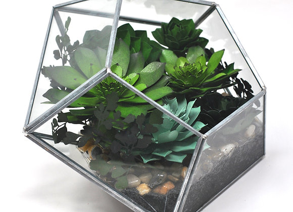 Diamond Glass Terrarium | Verde Collection