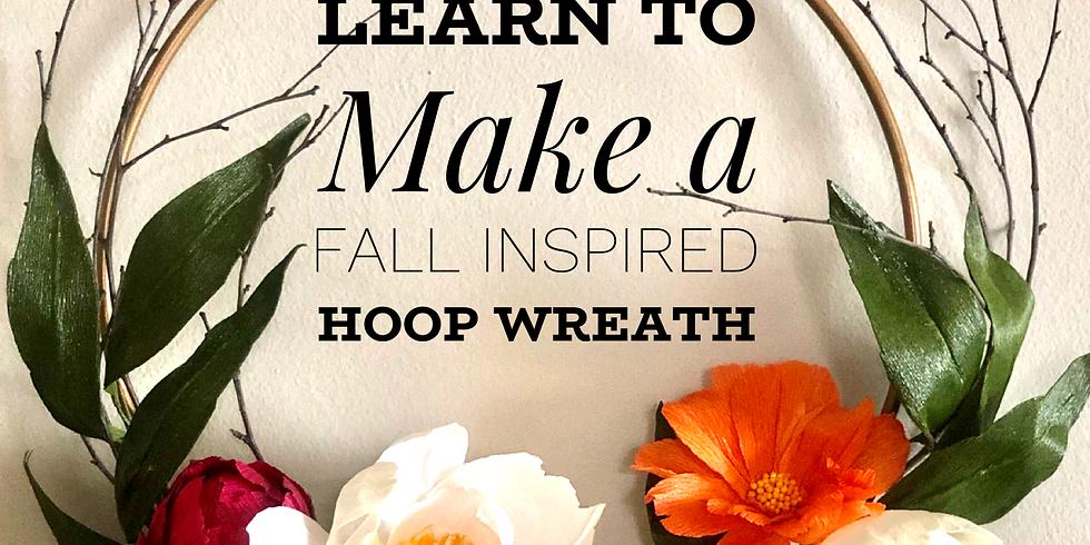 Make a Fall Inspired Hoop Wreath