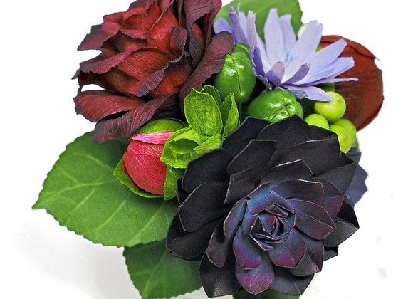 Mini Chicory + Rose Garden Bouquet