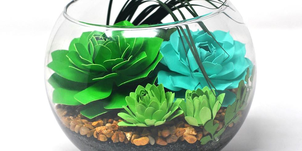 Create a Paper Succulent Terrarium