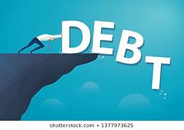 businessman-push-word-debt-financial-260
