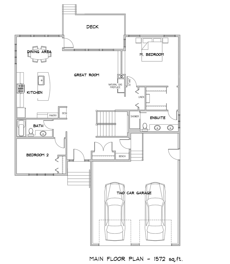 1572 Square Foot Bungalow