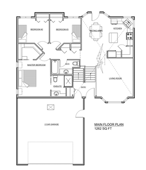 1262 Square Foot Bi-Level