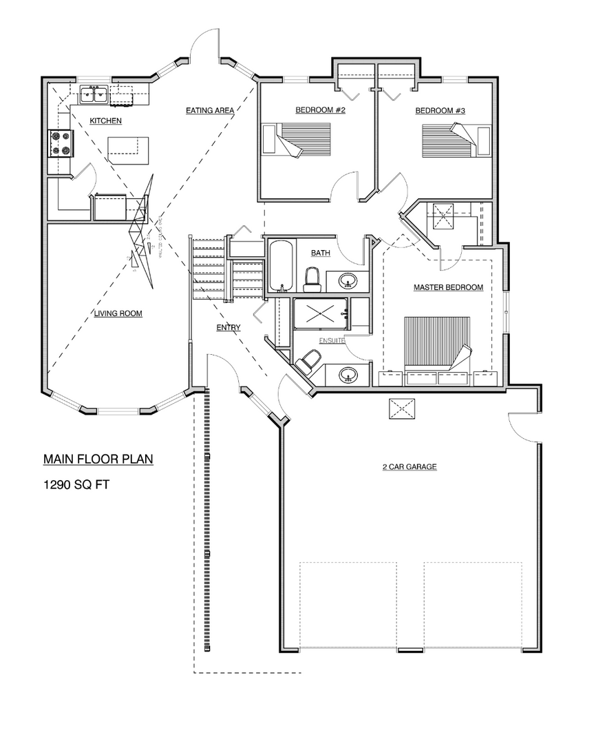 1290 Square Foot Bi Level