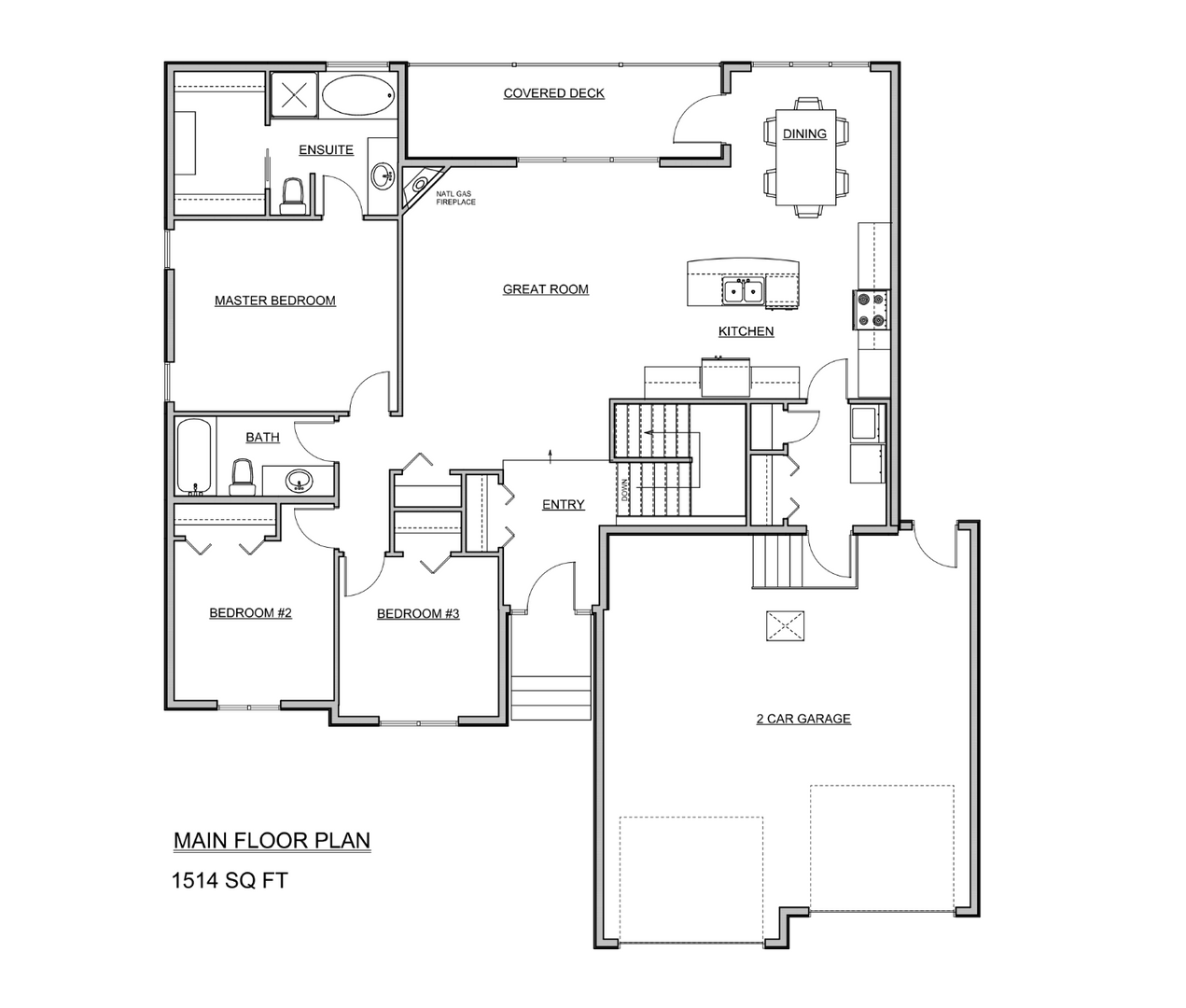 1514 Square Foot Bungalow