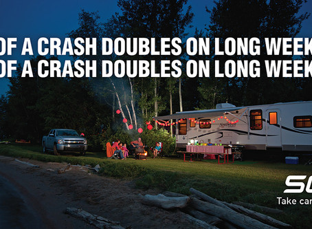 Risks of crashes increased on long weekends