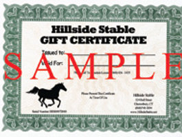 Pony Ride Certificate
