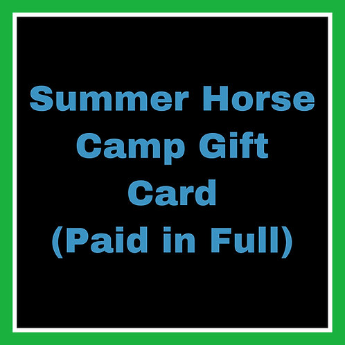 Summer Camp Gift Card - Paid In Full