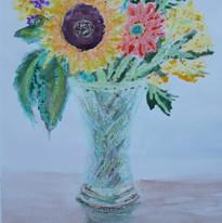 David Thomas - Flowers In Vase - Pastels