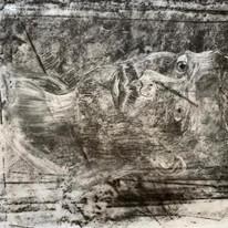 Elaine Owen - Portrait in Charcoal