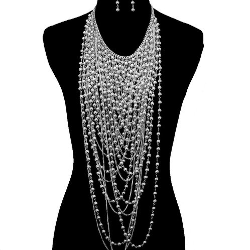 Ball Chain Layered Necklace Set