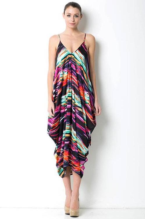 Multicolored Sleeveless Dress