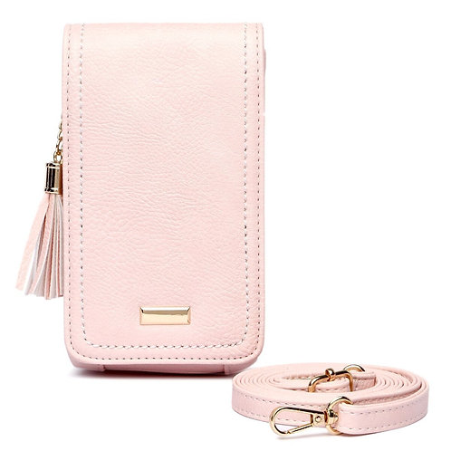 Pink Leather Cellphone Wallet