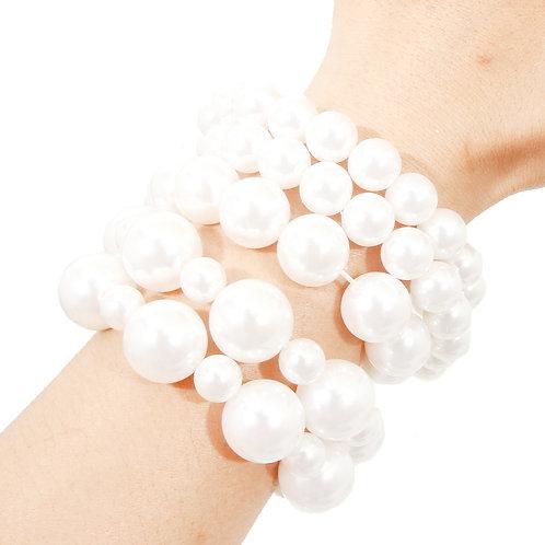 Five Layered Pearl Bracelet