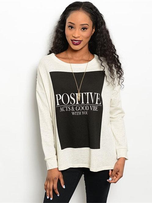 Cream Positive Shirt
