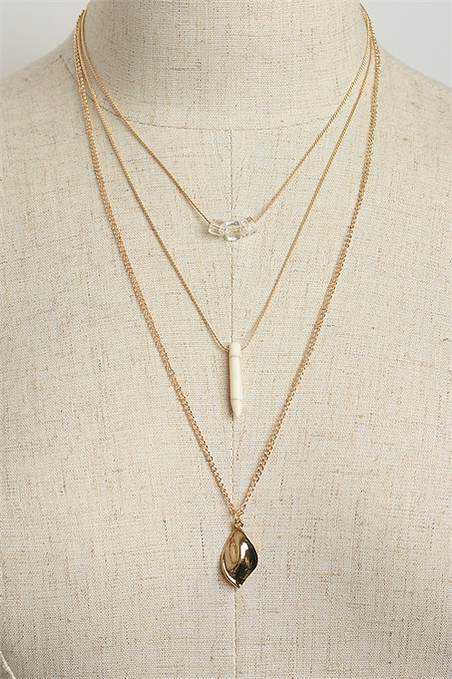 Design Triple Chain Necklace