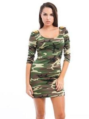Camo Stud Dress