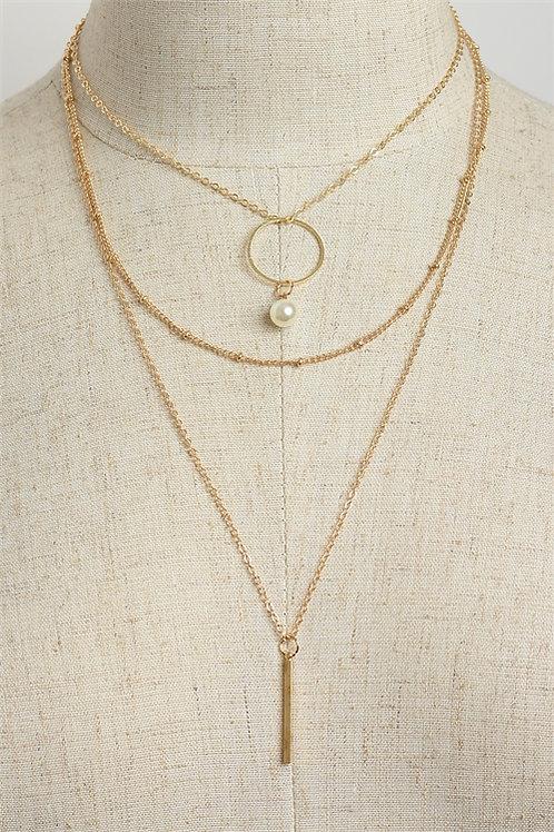 Design Triple Chain Necklace