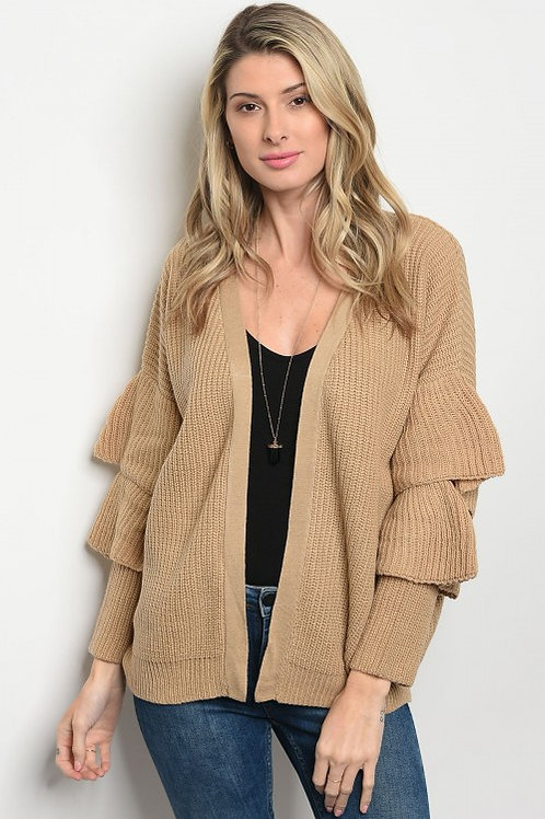 Taupe Cardigan Sweater