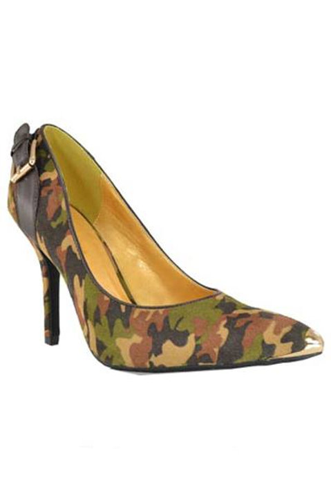 Camouflage 3 inch heel