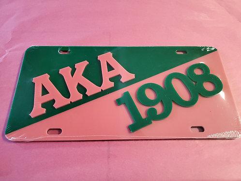 AKA Pink and Green 1908 Tag