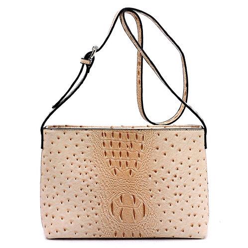 Ostrich Croc Crossbody Bag
