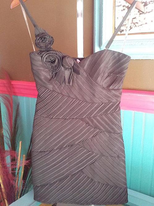Gray Rosette Dress