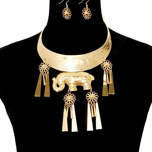 Elephant Pendant Necklace Set