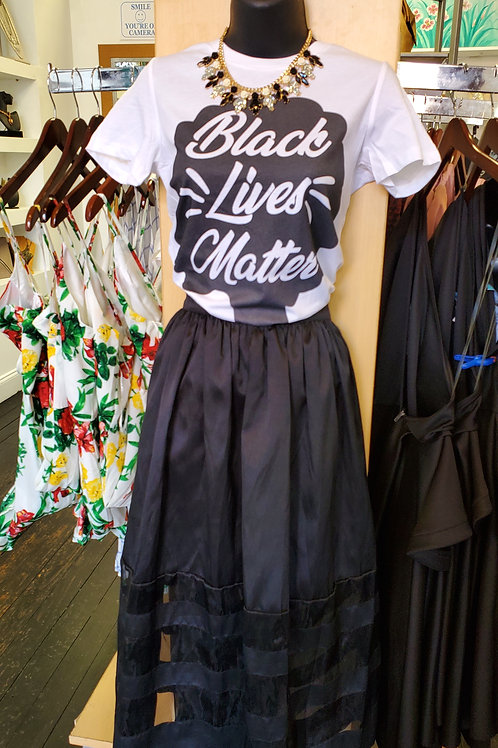 Black Lives Matter Afro Tee