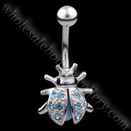 Ladybird Silver & Steel Navel (N009)