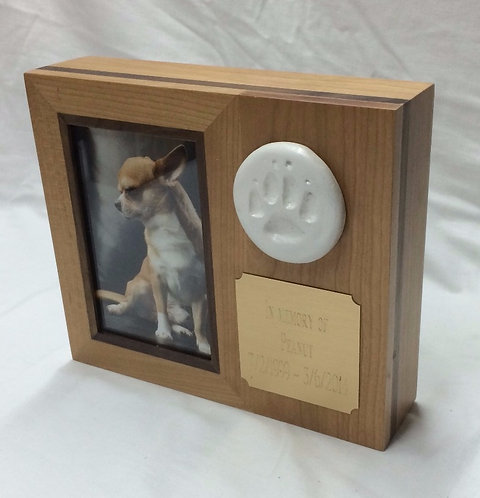 Small PawPrint Frame -18lbs