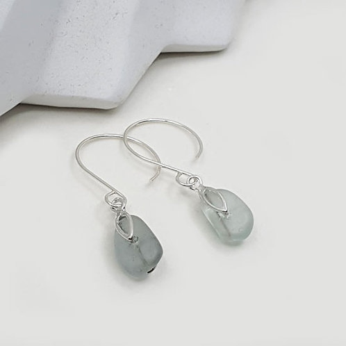 Mermaids Tear - Seaham Sea Glass Dropper Earrings