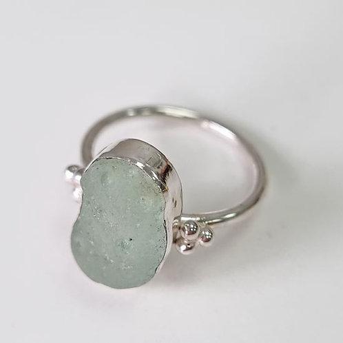 Seaham Sea Glass Bezel Set Ring