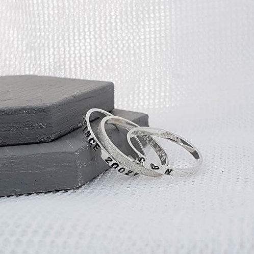 Skinny Story Stacker Ring Set of 3