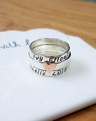 Handmade Sterling silver rings