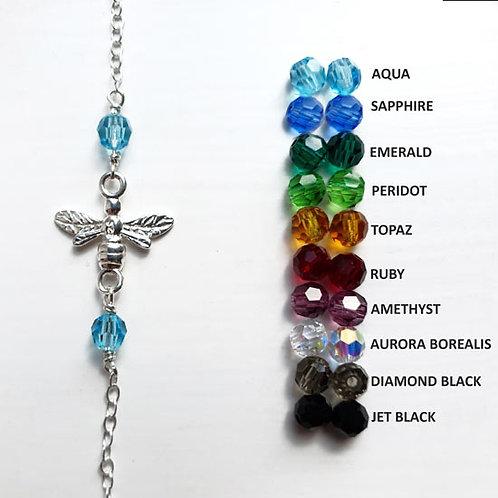 Bee & Crystal Charm Bracelet / Anklet