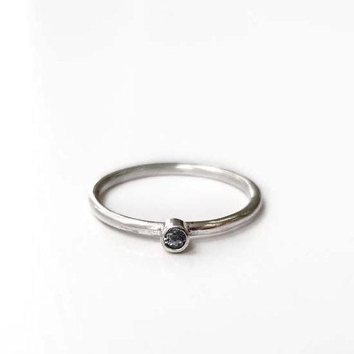 Tiny Blue Topaz Stacker Ring
