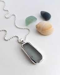 Sterling silver & Sea glass jewellery