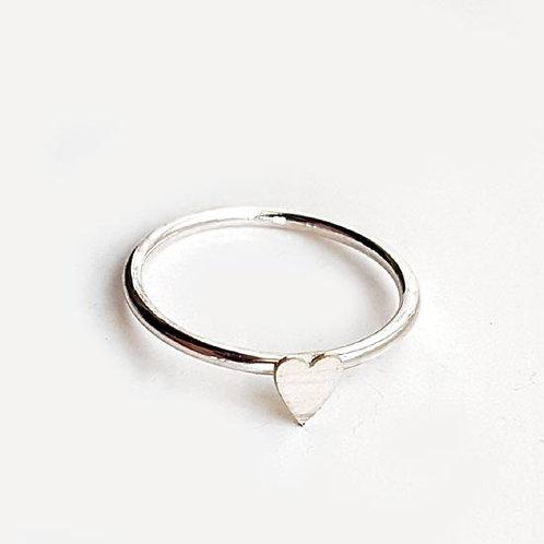 Tiny Heart Stacker Ring