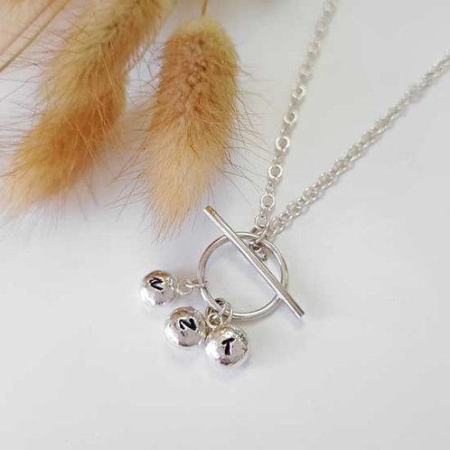 Multi Molten Charm T-Bar Pendant Necklace