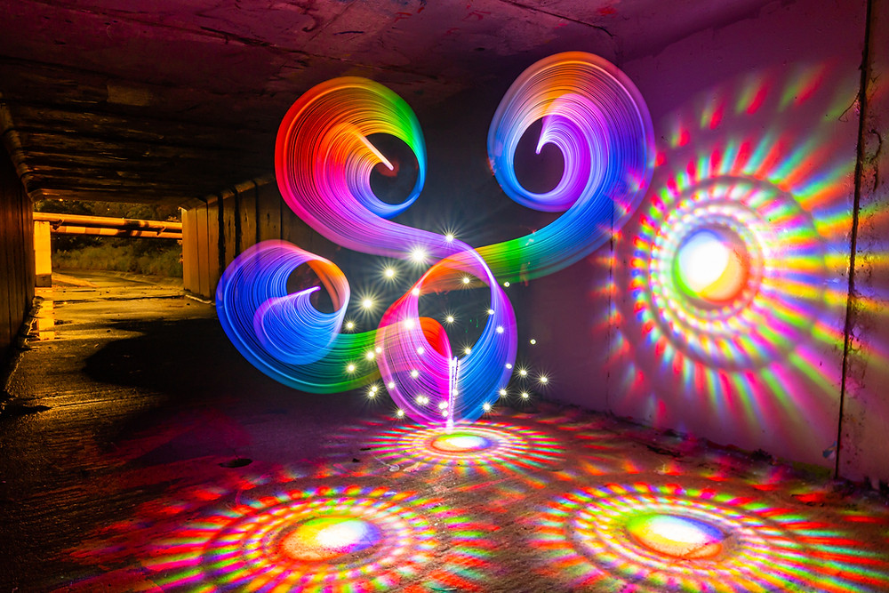 Structured light drawing