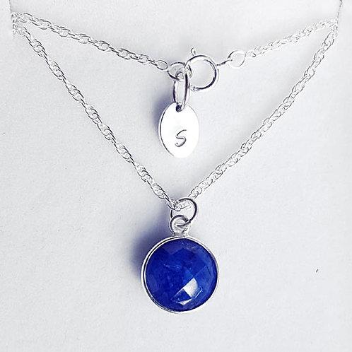Sapphire Pendant Drop Necklace