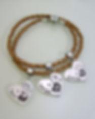 Sterling silver personalised handprint jewellery