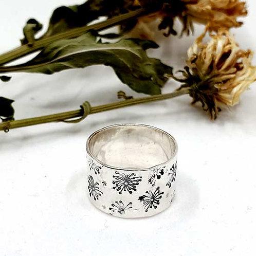 Dandelion Wide Band Ring
