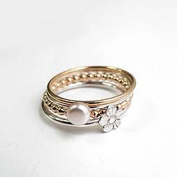 Handmde Sterling silver stacker rings