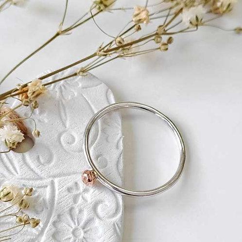 Rose Gold Molten Dot Stacker Ring
