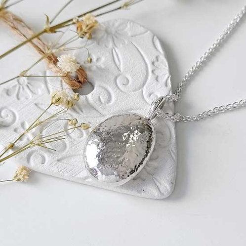 Large Molten Pendant Necklace