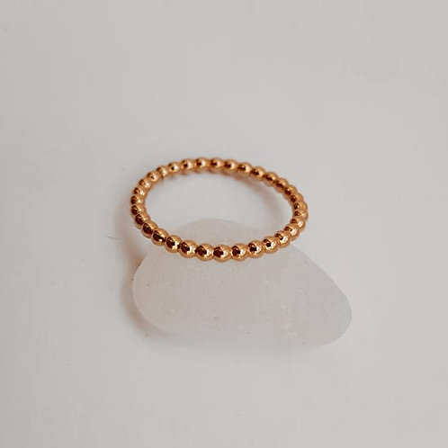 Gold Filled Ball Stacker Ring