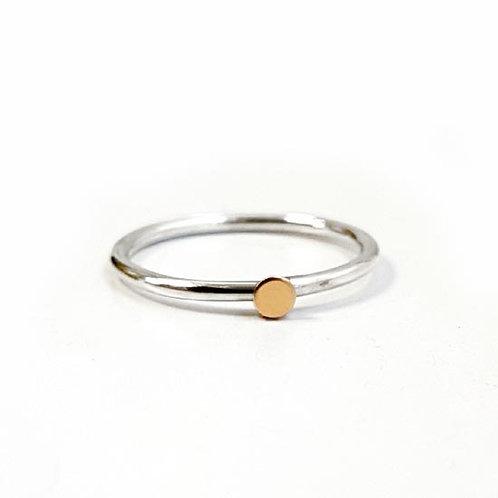 Tiny Gold Dot Stacker Ring